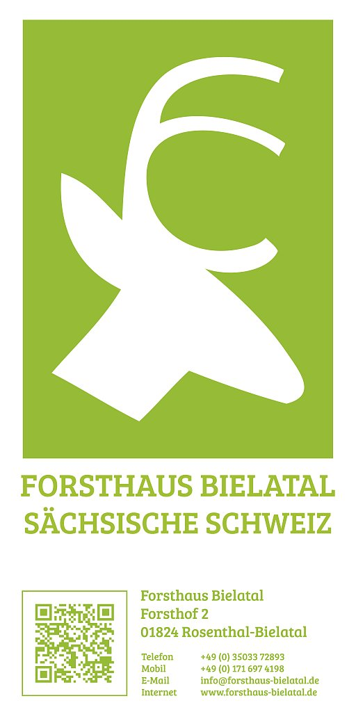 Forsthaus Bielatal - Logo und Banner