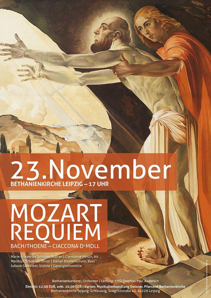 Mozart Requiem Bethanienkirche - Plakat